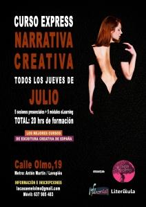 Cartel CURSO EXPRESS JULIO LA PARCERÍA Y LITERAULA 01