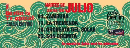 Martes de Julio: Salsa en vivo en el Café Berlín | La Parcería